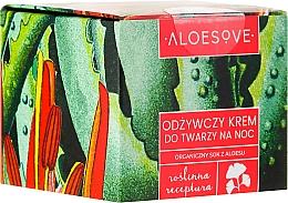 Fragrances, Perfumes, Cosmetics Nourishing Night Face Cream - Aloesove