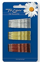 Fragrances, Perfumes, Cosmetics Hairpin 23736, silver, gold and bronze - Top Choice
