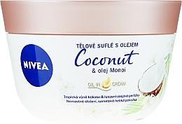 Fragrances, Perfumes, Cosmetics Body Souffle with Coconut and Manoi Oil - Nivea Body Souffle Coconut & Monoi Oil