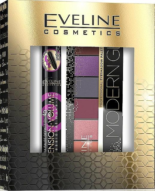 Set - Eveline Cosmetics (masc/10ml + eye/pal/9.6g)