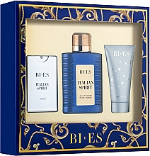 Fragrances, Perfumes, Cosmetics Bi-Es Italian Spirit - Set (edt/100ml + edt/15ml + sh/gel/50ml)