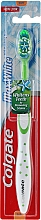 "Fragrances, Perfumes, Cosmetics Soft Toothbrush ""Max White"", white & green - Colgate Max White Soft With Polishing Star"