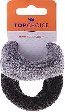 Fragrances, Perfumes, Cosmetics Thick Elastic Hair Bands, 2 pcs, black & gray - Top Choice