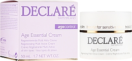 Fragrances, Perfumes, Cosmetics Anti-Aging Peony Extract Cream - Declare Age Control Age Essential Cream