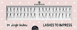 Fragrances, Perfumes, Cosmetics Flase Lashes - Essence Lashes To Impress 01 Single Lashes