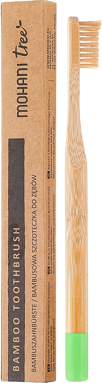 Bamboo Toothbrush, soft, green - Mohani Toothbrush