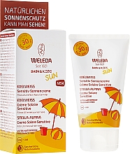 Fragrances, Perfumes, Cosmetics Sunscreen Body Milk for Sensitive Skin - Weleda Edelweiss Baby&Kids Sun SPF 30