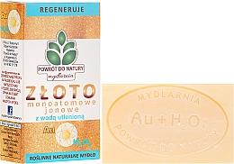 "Fragrances, Perfumes, Cosmetics Natural Soap ""Matt Gold and Hydrogen Peroxide"" - Powrot do Natury Natural Soap Matt Gold and Hydrogen Peroxide"