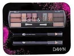 Fragrances, Perfumes, Cosmetics Set - Cosmetic 2K Night & Day Dawn (eye/sh/8,16g + eye/pen/2x0,6g)