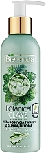 Fragrances, Perfumes, Cosmetics Green Clay Face Paste - Bielenda Botanical Clays Vegan Face Wash Paste Green Clay