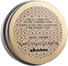 Fragrances, Perfumes, Cosmetics Shine & Smoothing Wax - Davines More Inside This Is A Shine Wax