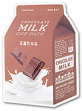 """Fragrances, Perfumes, Cosmetics Sheet Mask """"Chocolate"""" - A'pieu Chocolate Milk One-Pack Soothing"""