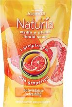 """Fragrances, Perfumes, Cosmetics Liquid Soap """"Grapefruit"""" - Joanna Naturia Body Grapefruit Liquid Soap (Refill)"""