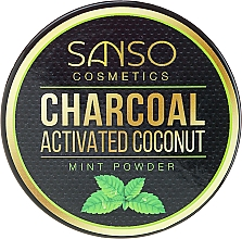 Fragrances, Perfumes, Cosmetics Mint Whitening Tooth Powder - Sanso Cosmetics Charcoal Activated Coconut Mint Powder