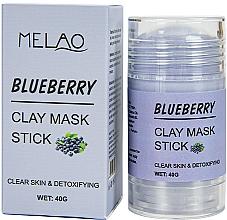 Fragrances, Perfumes, Cosmetics Blueberry Facial Mask Stick - Melao Blueberry Clay Mask Stick