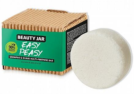 Shampoo & Shave Bar - Beauty Jar Easy Peasy Shampoo & Shave Multi-Purpose Bar