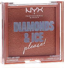 Fragrances, Perfumes, Cosmetics Face and Body Highlighter - NYX Professional Makeup Diamonds & Ice Face And Body Illuminator