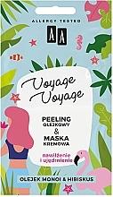 Fragrances, Perfumes, Cosmetics Oil Peeling + Monoi & Hibiscus Cream Mask - AA Voyage Voyage 2 In 1