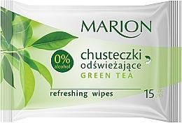 "Fragrances, Perfumes, Cosmetics Refreshing Wipes ""Green Tea"", 15 pcs - Marion"