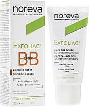 Fragrances, Perfumes, Cosmetics Golden Tinted Correction Cream - Noreva Laboratoires Exfoliac Corrective Treatment Golden Tinted