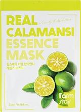 Fragrances, Perfumes, Cosmetics Vitamin Face Mask with Calamansi Extract - Farmstay Real Calamansi Essence Mask