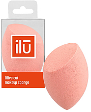Fragrances, Perfumes, Cosmetics Olive Cut Makeup Sponge, orange - Ilu Sponge Olive Cut Orange
