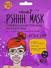 Fragrances, Perfumes, Cosmetics Refreshing Oxygen Facial Mask with Sweet Mint & Acid + Complex - Vilenta Pshhh Mask
