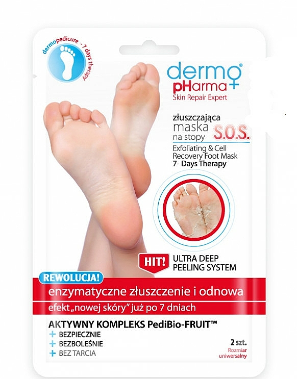Foot Peeling Mask - Dermo Pharma Skin Repair Expert S.O.S. Exfoliating & Cell Recovery Foot Mask