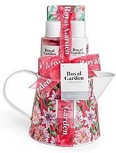 Fragrances, Perfumes, Cosmetics Set - IDC Institute Royal Garden (sh/g/100ml+b/lot/100ml+salt/150g+soap/25g)