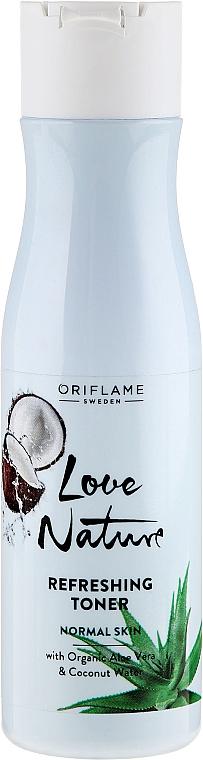 Refreshing Face Toner - Oriflame Love Nature Refreshing Organic Aloe Vera&Coconut Water Toner