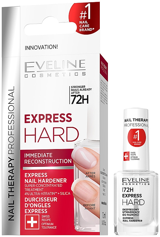 Express Nail Hardener - Eveline Cosmetics Nail Therapy Professional Express Hard 72h