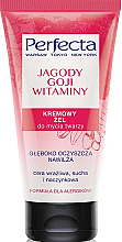 "Fragrances, Perfumes, Cosmetics Cleansing Face Wash Cream Gel ""Goji Berry and Vitamins"" - Perfecta"