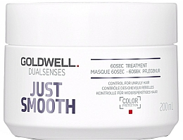 Fragrances, Perfumes, Cosmetics Intensive Unruly Hair Care - Goldwell Dualsenses Just Smooth 60sec Treatment
