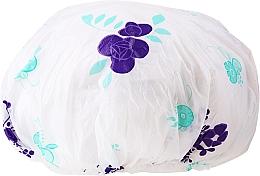 Fragrances, Perfumes, Cosmetics Shower Cap, 9298, white-purple - Donegal Shower Cap