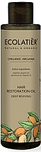 "Fragrances, Perfumes, Cosmetics Hair Oil ""Deep Repair"" - Ecolatier Organic Argana Hair Restoration Oil"