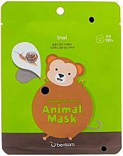 Fragrances, Perfumes, Cosmetics Snail Mucin Sheet Mask - Berrisom Animal Mask Snail Series Monkey