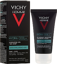 Fragrances, Perfumes, Cosmetics Moisturizing, Cooling Face and Eye Gel - Vichy Homme Hydra Cool+