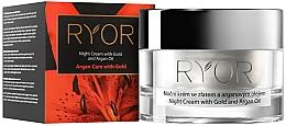 Fragrances, Perfumes, Cosmetics Night Cream with Gold & Argan Oil - Ryor Night Cream With Gold And Argan Oil