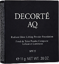 Fragrances, Perfumes, Cosmetics Face Powder - Cosme Decorte AQ Radiant Glow Lifting Powder Foundation Refill (refill)