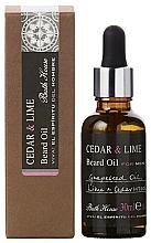 Fragrances, Perfumes, Cosmetics Bath House Cuban Cedar & Lime - Beard Oil