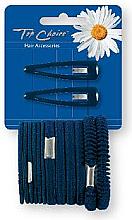 Fragrances, Perfumes, Cosmetics Hair Clip & Elastic Bands Set, black 2+12 pcs - Top Choice