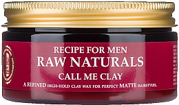 Fragrances, Perfumes, Cosmetics Hair Wax - Recipe For Men RAW Naturals Call Me Clay