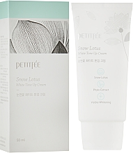 Fragrances, Perfumes, Cosmetics Moisturizing & Whitening Face Cream - Petitfee&Koelf Snow Lotus White Tone Up Cream