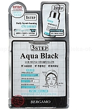 Fragrances, Perfumes, Cosmetics 3-Step Face Mask - Bergamo 3Step Black Aqua Mask Pack