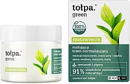 Fragrances, Perfumes, Cosmetics Mattifying Face Cream - Tolpa Green Mattifying Normalizing Cream
