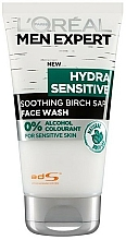 Fragrances, Perfumes, Cosmetics Face Cleansing Gel - L'Oreal Paris Men Expert Hydra Sensitive Soothing Birch Sap Face Wash