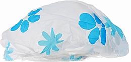 Fragrances, Perfumes, Cosmetics Shower Cap, 9298, white-blue flowers - Donegal Shower Cap
