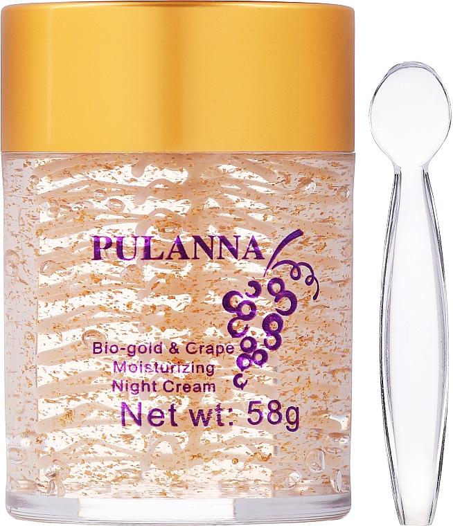 Moisturizing Bio-Gold & Grape Night Face Cream - Pulanna Bio-Gold & Grape Moisturizing Night Cream — photo N2