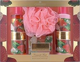 Fragrances, Perfumes, Cosmetics Set - Cassardi Fruit Strawberry And Pomegranate (b/lot 250 ml + sh/gel 250 ml + salt/100 g + sponge)