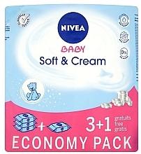 "Fragrances, Perfumes, Cosmetics Wet Wipes ""Baby"" 4x63pcs - Nivea Baby Soft & Cream"